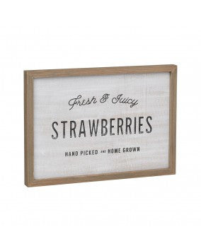 Strawberries Barn Box Sign - Living Roots Decor
