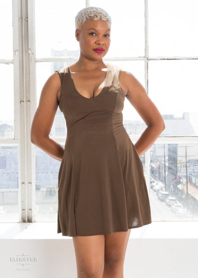 Essential Slip Dress - Chocolate