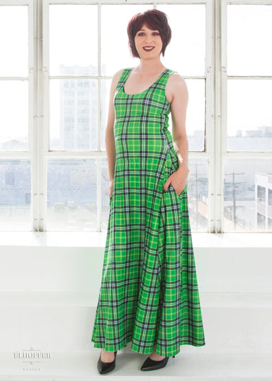 Essential Green Plaid Maxi Dress
