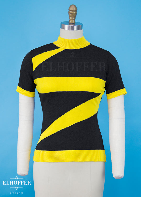 XS / Black/ Electric Yellow - Marvelous Bolt Sweater