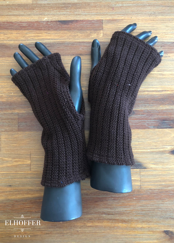 Brown - Galactic General Fingerless Gloves