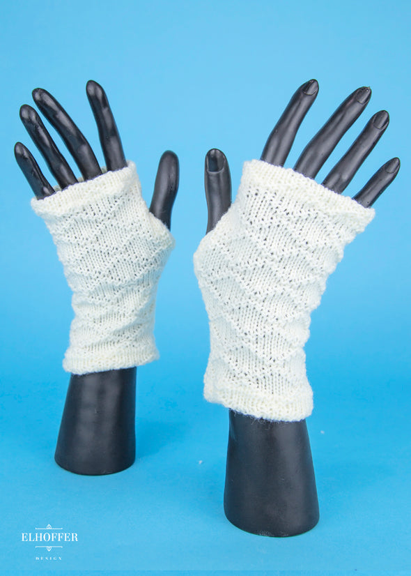 - Galactic Desert Ivory Fingerless Gloves