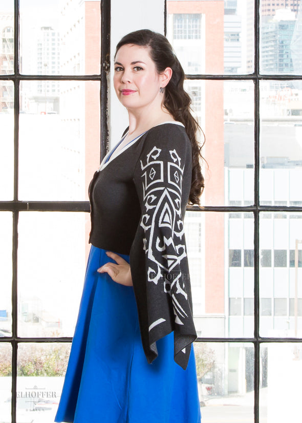 - Elvish Hero Cape Sleeve Cardigan