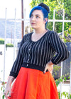 - Retired Pinstripe Nightmare Cardigan
