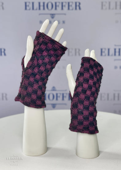 Mentor Fingerless Gloves - Aubergine/Black