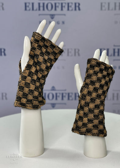 Mentor Fingerless Gloves - Amber/Black
