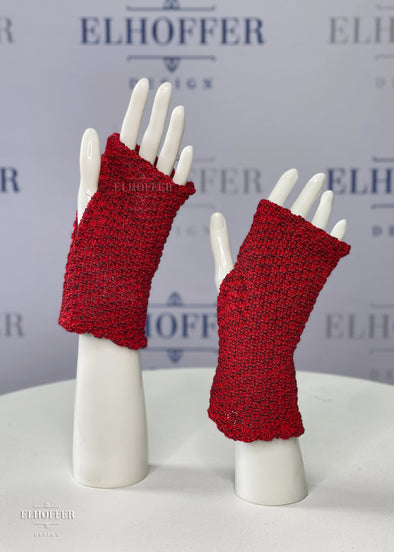 Scavenger Fingerless Gloves - Sorcerer Red