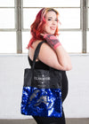 - Elhoffer Design Printed Lightweight Sequin Tote