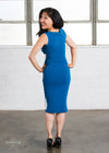 - Galactic Snips Knit Sheath Dress