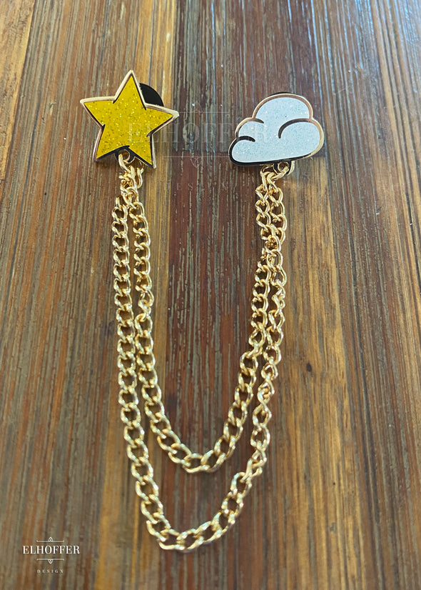 Starpuff Mini Sparkle Collar Clips