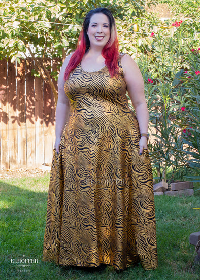 Essential Golden Zebra Maxi Dress