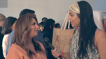 Gita Cellei interviews Gina La Morte at NYFW