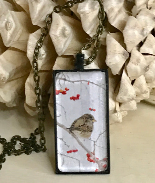 Winter Sparrow Necklace