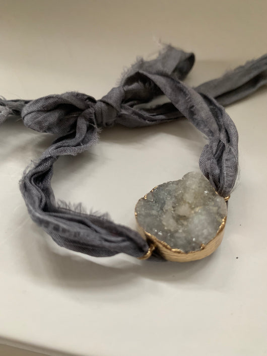 Cloud crystal druzy Bracelet