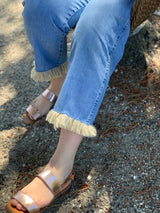Boyfriend Washed Fringe Denim