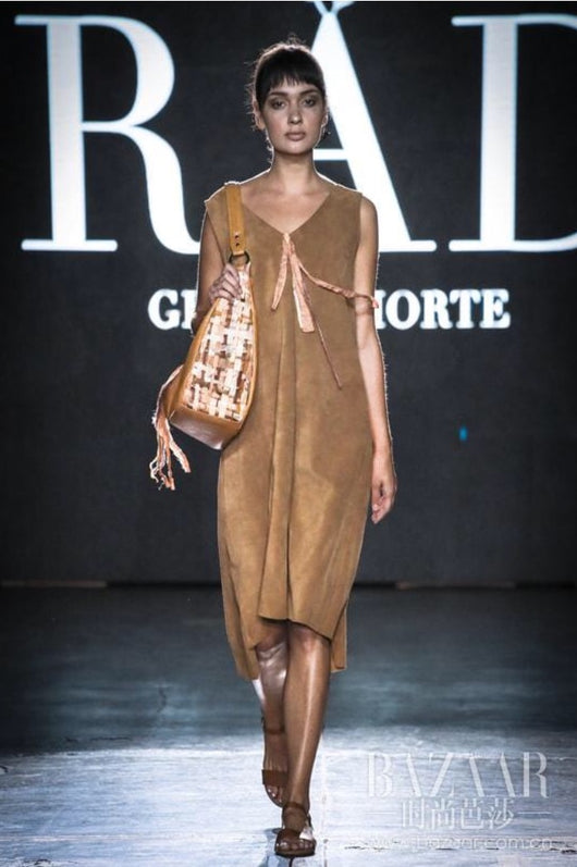 hoard as a rare commodity how to buy top design Suede Jumper dress
