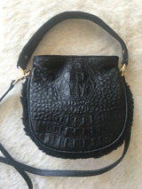 Mini Cocoon Black Hornback Croco-Sold Out