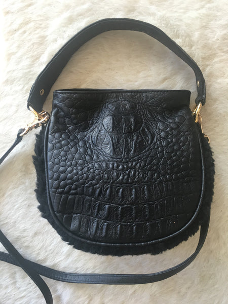 Mini Cocoon Black Hornback Croco
