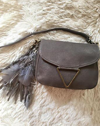 Mini Trinity Crossbody in Grey