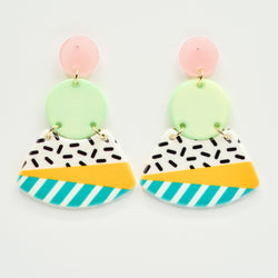 candyshop byfossdal earrings spring fun
