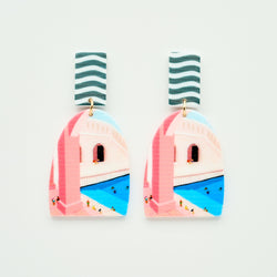 candyshop byfossdal earrings swimmingpool