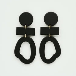 candy shop byfossdal earrings black shapes