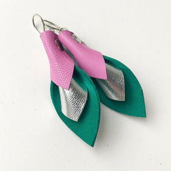 Tricolore babypink/silver/green