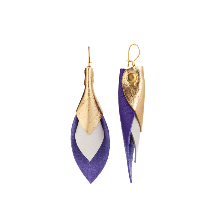 Tricolore gold/white/purple