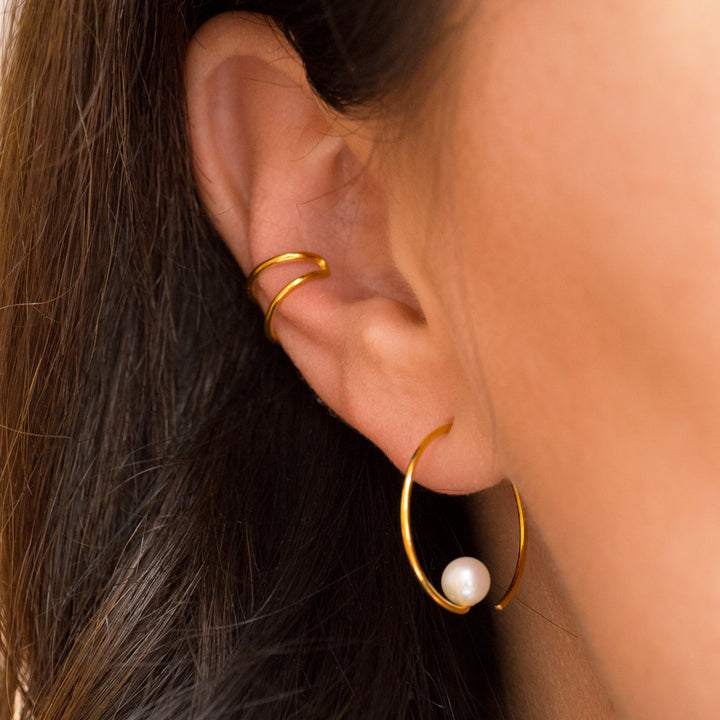 Small double Earcuff