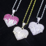 Load and play video in Gallery viewer, Drippy Heart Necklace