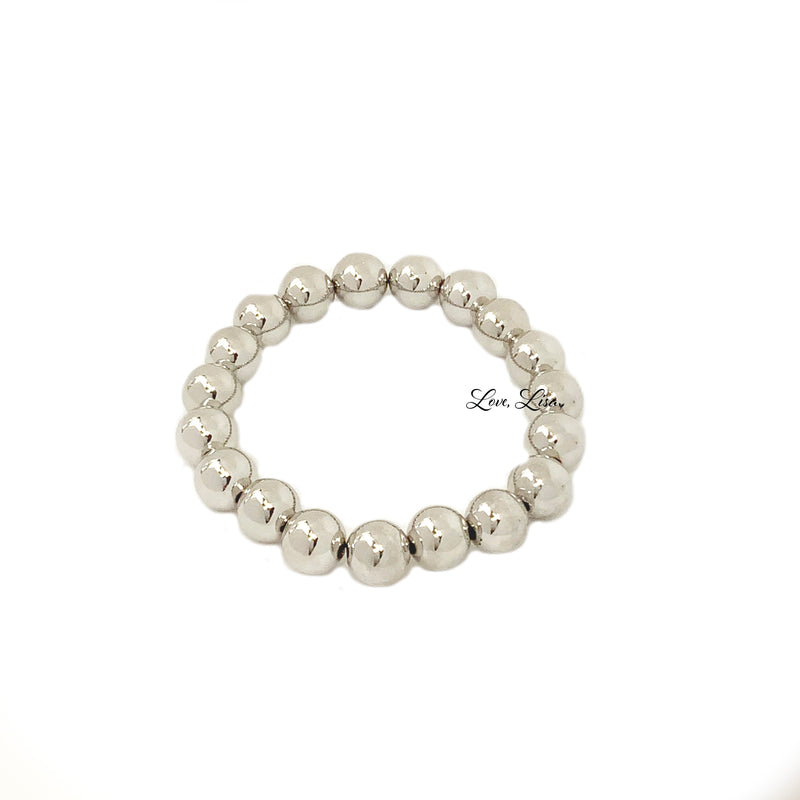The Famous 10mm Beaded Stretch Bracelet