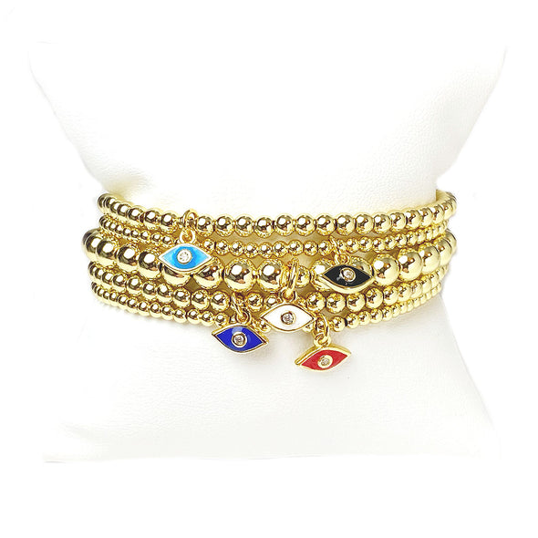 THE Most Beautiful Mini Eye Stack Of Bracelets