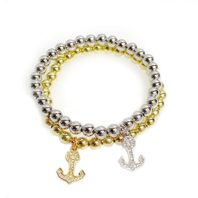 Marie's Anchor Beaded Bracelet