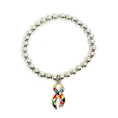Autism Awareness Puzzle Ribbon Bracelet