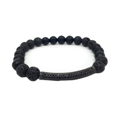 Kevin's Black Diamond Bar Bracelet