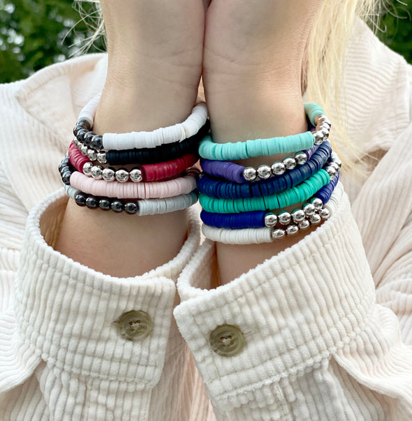 Sophia's 5 Beaded Colorful Bracelets