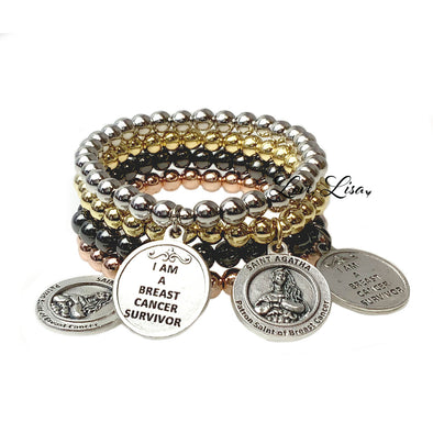 St. Agatha Patron Saint of Breast Cancer Bracelets