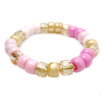 Cotton Candy Pony Bead Stretch Bracelet