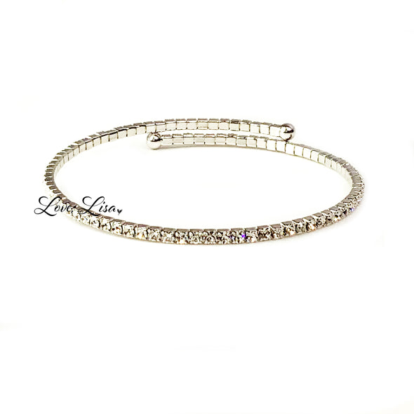 Stunning Crystal Flexible Bangle Bracelet
