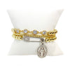Danielle's 4 Diamond Stretch Beaded Bracelet