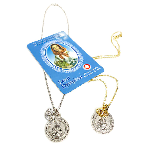 Stress & Anxiety  Saint Dymphna Healing Necklace