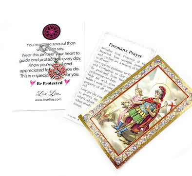 Fireman's Prayer Pin