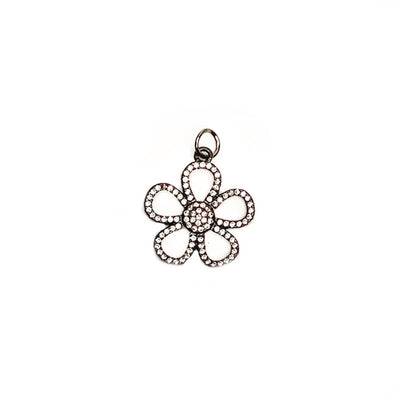 Adorable White Enamel Flower Charm