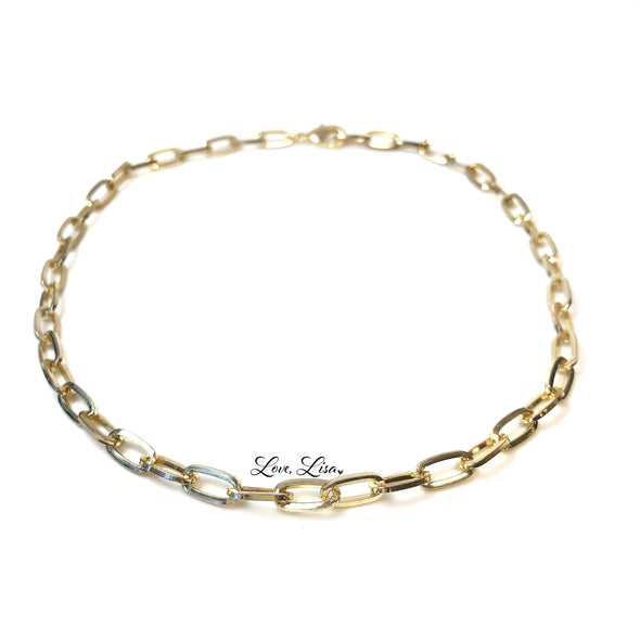 Trending Rectangle Link Chain Choker