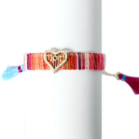 Love Mom Tassel Bracelet