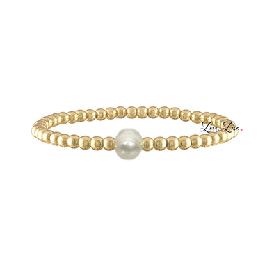Amy's Pearl Small Beaded Bracelet