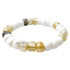 Golden Sugar Pony Bead Stretch Bracelet