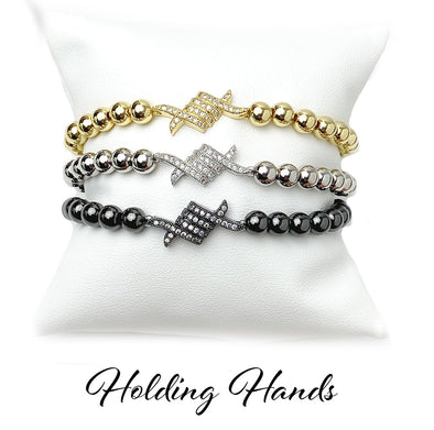 Comfort Holding Hands Medium Beaded Bracelet