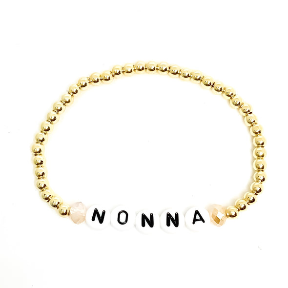 Personalized  Gold Word Bracelet