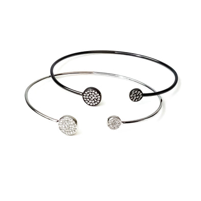 Double Circle of Love Bangle Bracelet